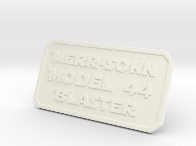 Merr Sonn 44 Plate in White Processed Versatile Plastic