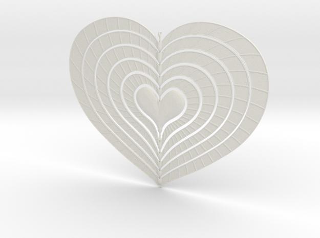 Change Of Heart Spinner Spiral Ribs 15cm in White Natural Versatile Plastic