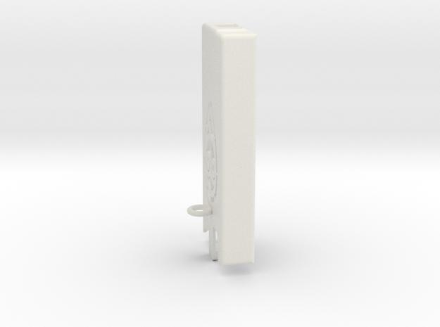 Dexcom Case w/Carabiner_Lanyard Hook SLIM in White Natural Versatile Plastic
