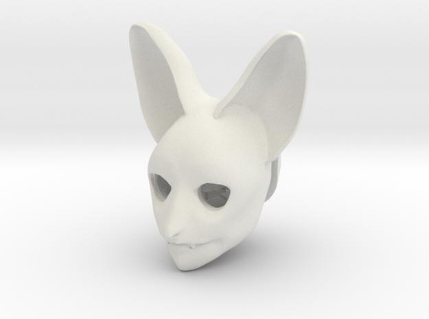 "BJD doll head MSD ""Batty"" in White Natural Versatile Plastic"