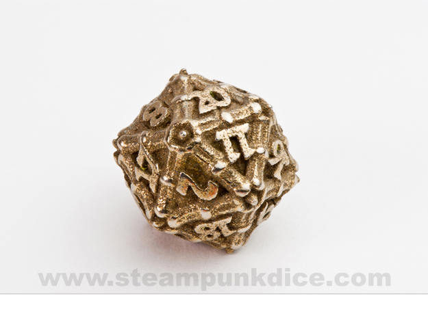 Dragon d20 in Stainless Steel