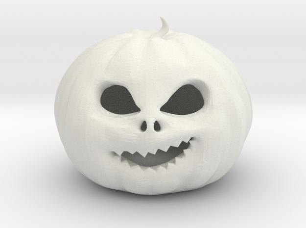 Smirking Pumpkin in White Strong & Flexible