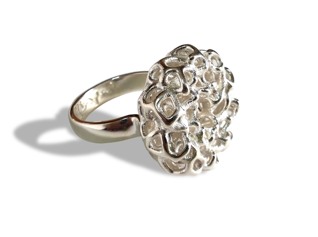 PERLA ring in Polished Silver: 6.5 / 52.75