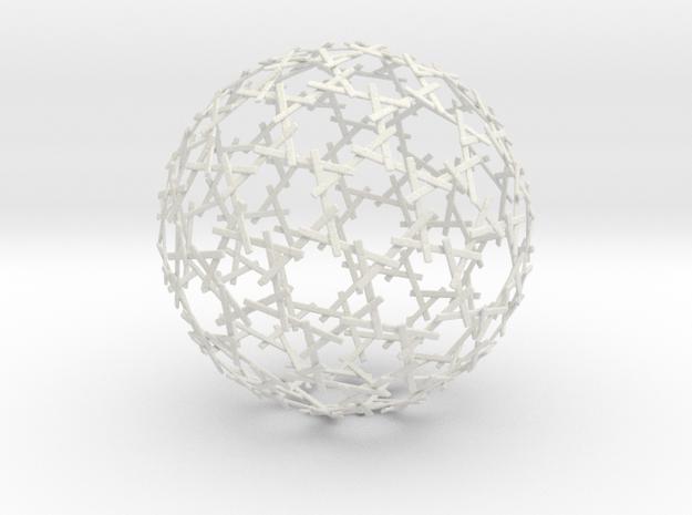 Sticks Sphere in White Natural Versatile Plastic