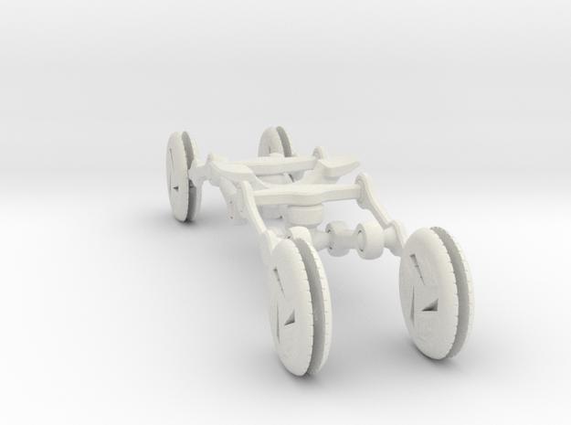 Lean Steer Demonstrator in White Natural Versatile Plastic