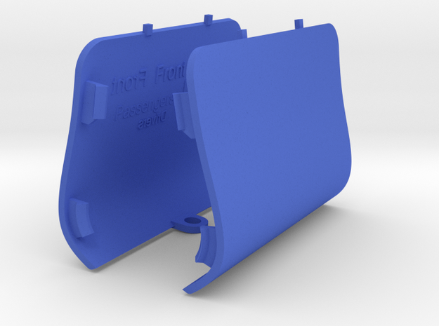 PAIR Front Jack Point Covers Saab 9-3 Aero Viggen in Blue Processed Versatile Plastic