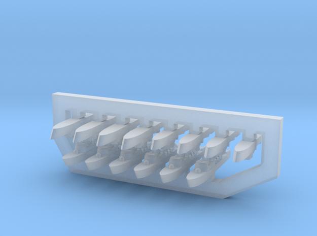60SA03 1:6000 Greek La Combattante FAC Fleet in Smooth Fine Detail Plastic