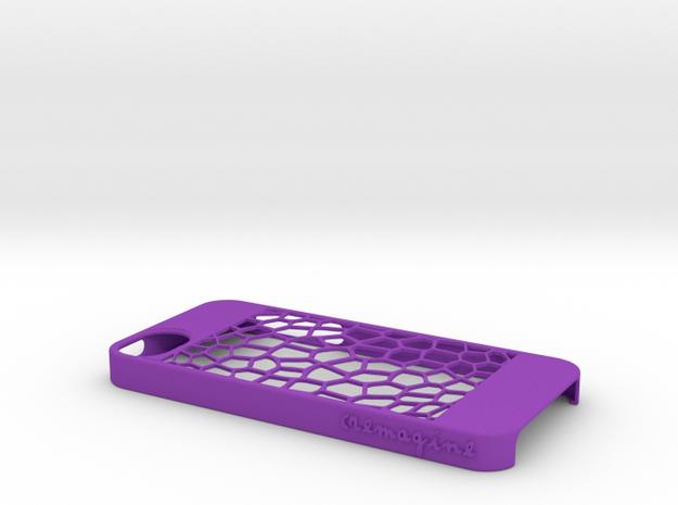 Honeycomb in Purple Processed Versatile Plastic