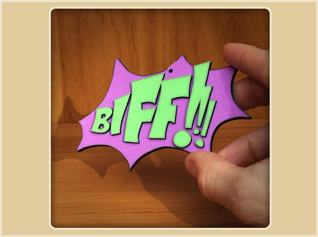 Biff  Ornament in Full Color Sandstone