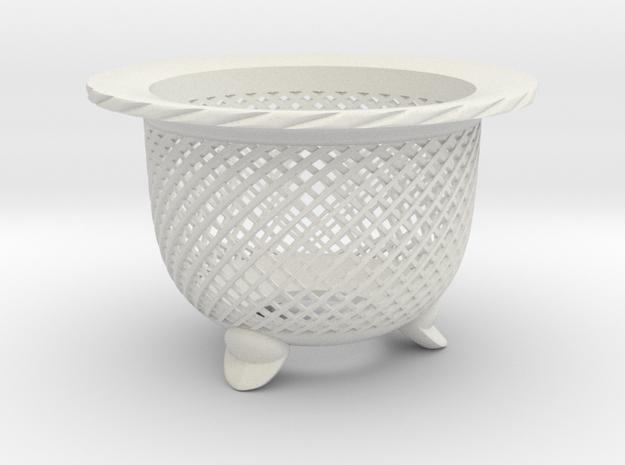 "Neo Pot - Model 5 - Size 3.0 (2.8"" ID) in White Natural Versatile Plastic"