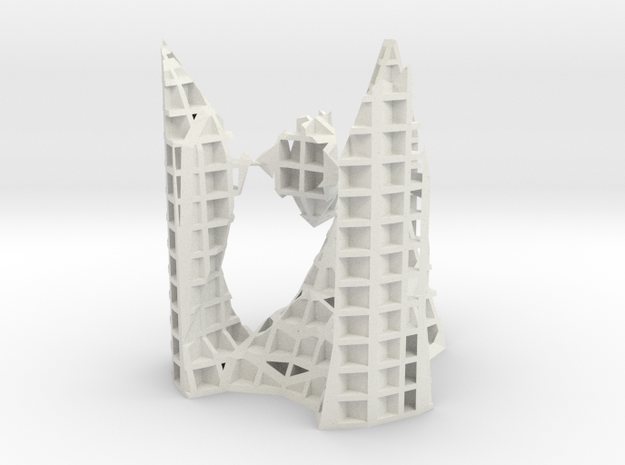 architekton with A2 and 2 - A1 singularities [XYZ] in White Natural Versatile Plastic