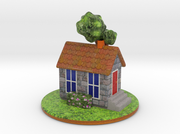 Cottage in Full Color Sandstone