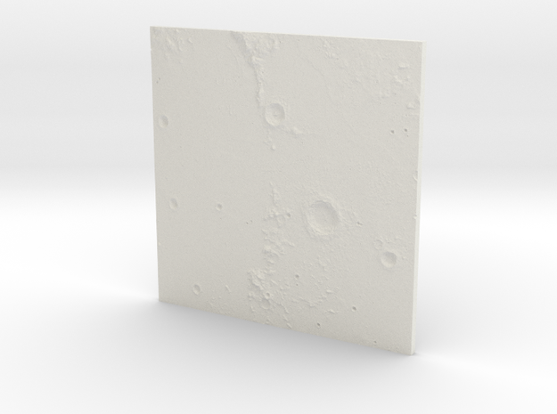 Moon Near Side in White Natural Versatile Plastic