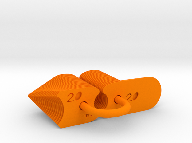 Radius Gauge Metric in Orange Strong & Flexible Polished