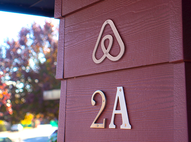 Airbnb House Symbol in White Natural Versatile Plastic