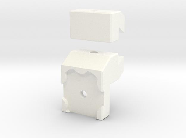 Recurve Archery Sight Clicker Adapter R7 in White Processed Versatile Plastic