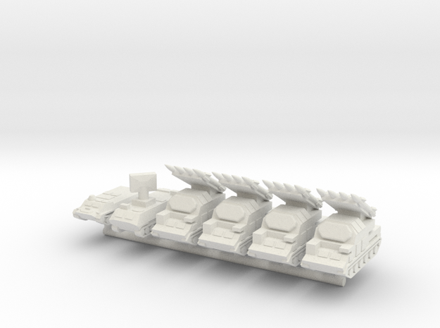 1/285 SA-17 Grizzly (Buk) (x4) in White Natural Versatile Plastic