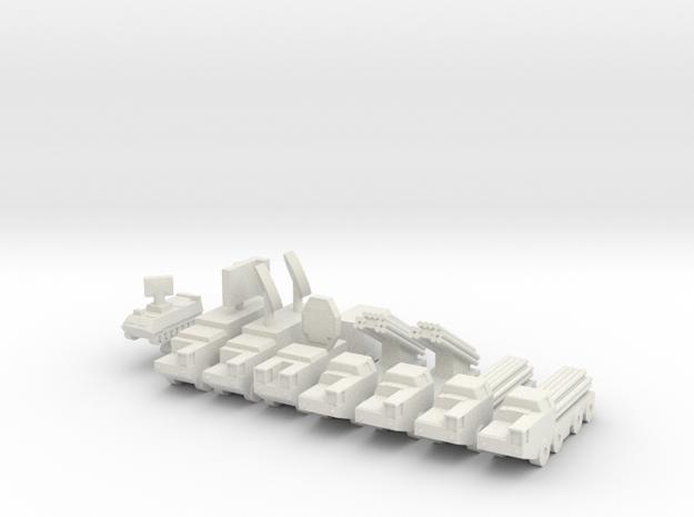 1/285 BM-30 Smerch Rocket (x4) in White Natural Versatile Plastic