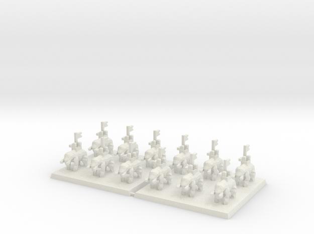 3mm DBA Elephants 40x40mm (x2) in White Natural Versatile Plastic