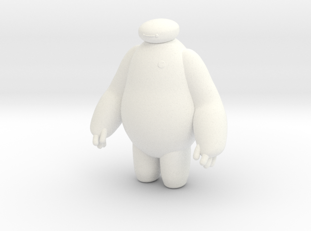 Big Hero 6 (Baymax) in White Strong & Flexible Polished