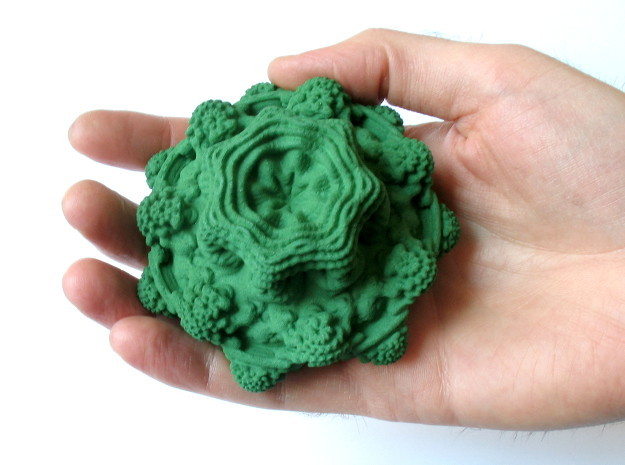 Mandelbulb - medium, 85 mm in Green Strong & Flexible Polished