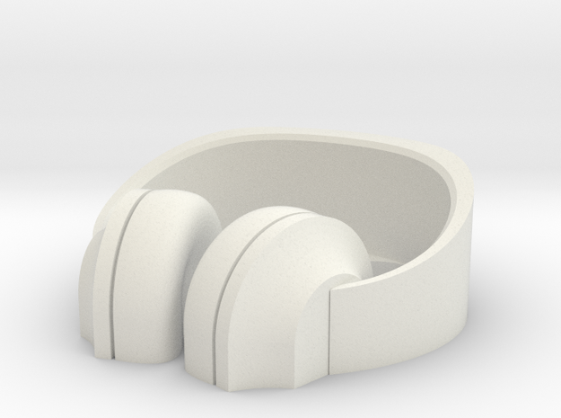 Headphone Stand#2 in White Strong & Flexible