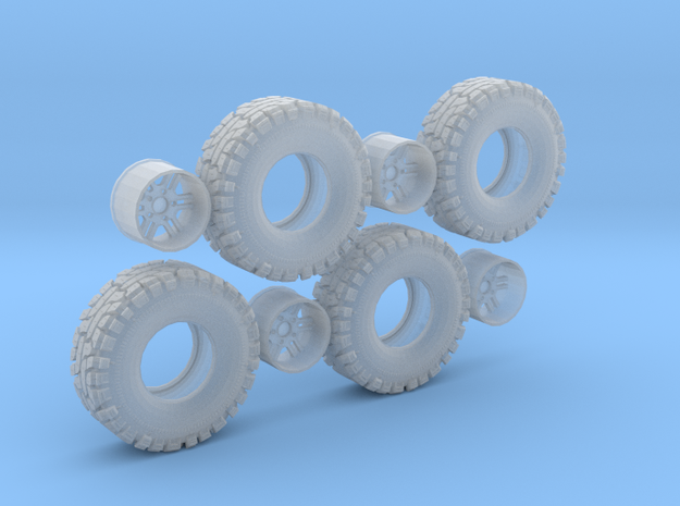 Thornbird Tire Wheel in Smooth Fine Detail Plastic