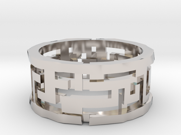 Labyrinth ring: size 11 (US) W (UK) 3d printed
