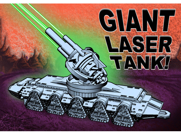 Giant Laser Tank (22 inch version)!!! in White Natural Versatile Plastic