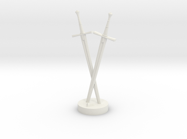 Role Playing Counter: Double Swords 3d printed