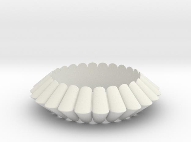 Chantilly-circle in White Natural Versatile Plastic