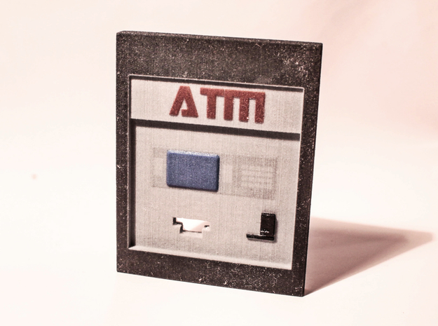 "Contemporary ATM for 7"" Figures in Full Color Sandstone"