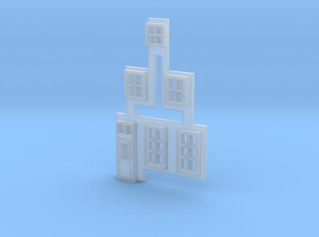 Gevel 1 in schaal N, hiervan de ramen in Smooth Fine Detail Plastic