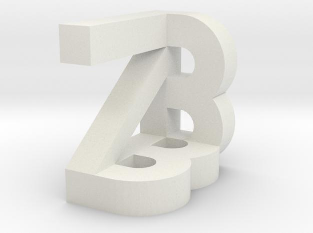 Zzzzzzzz in White Strong & Flexible