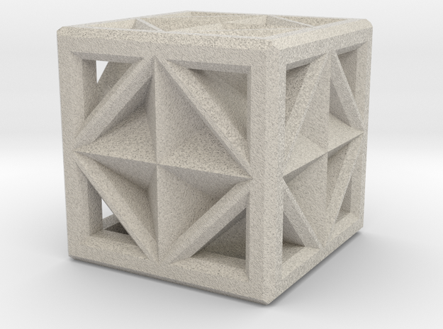 Cube in Natural Sandstone