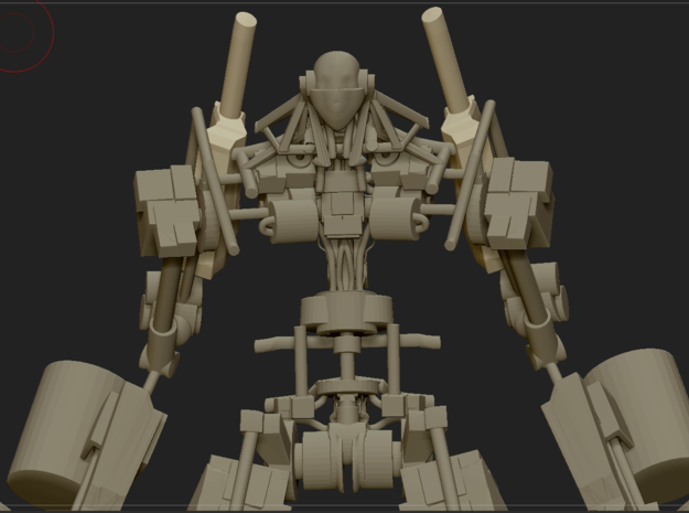 Mecha skeleton in White Natural Versatile Plastic