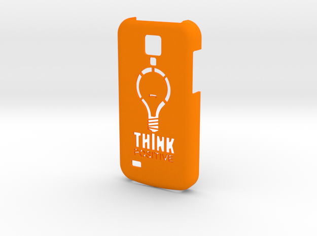 Samsung S4 Mini - Think Positive in Orange Processed Versatile Plastic