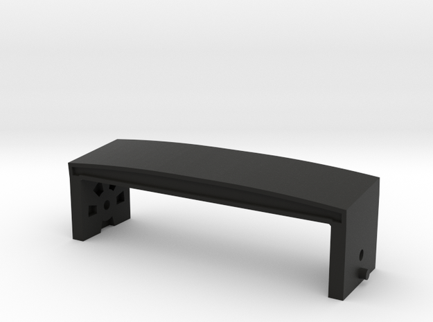 JK Front Body Mount - Gelände 2 in Black Natural Versatile Plastic