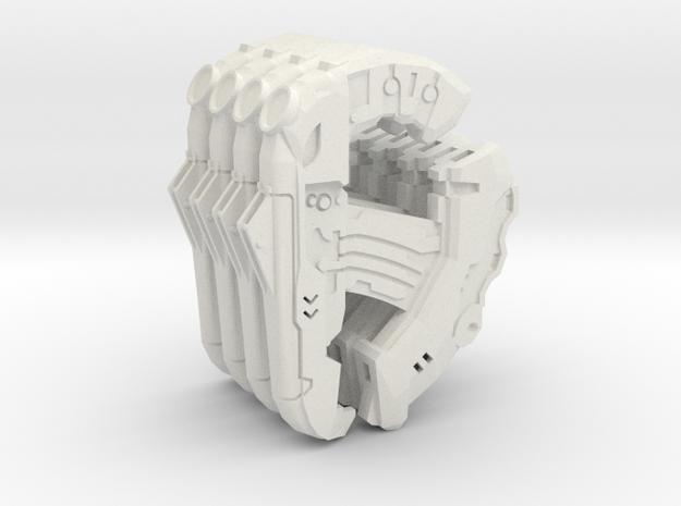 1:6 Large Direct Energy pistol x4 in White Natural Versatile Plastic