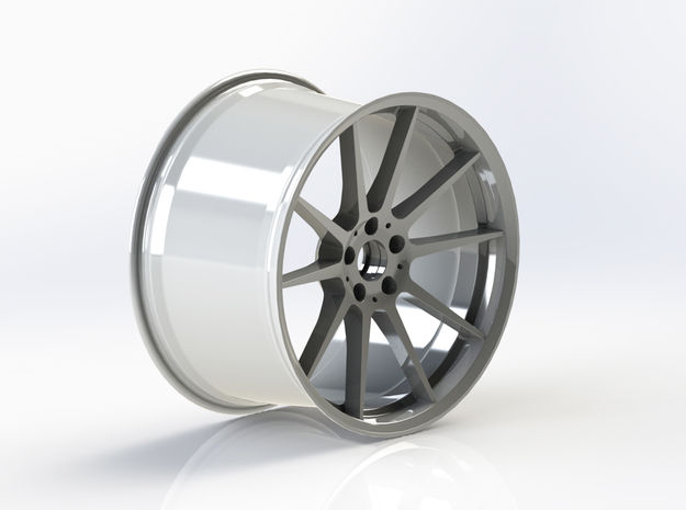 Scaled Performance Wheel in White Strong & Flexible Polished