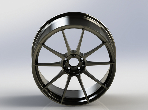 Scaled Performance Wheel 3 in Polished Nickel Steel