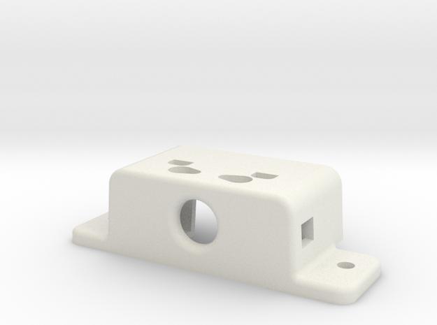 Kfk 0022734-DC-Obsada Zatrzasku Rolkowego in White Natural Versatile Plastic