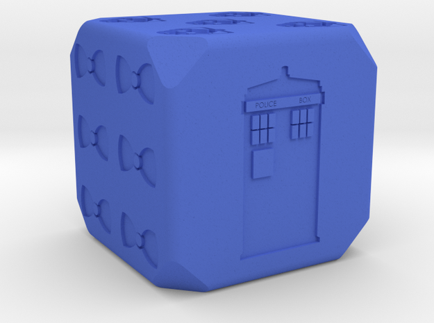 Doctor Who D6 in Blue Strong & Flexible Polished
