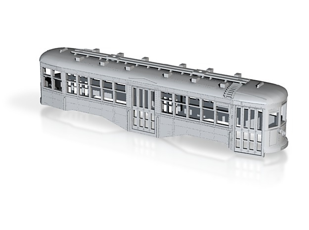 O Scale 1:48 B&QT 8000-series BODY  in White Strong & Flexible
