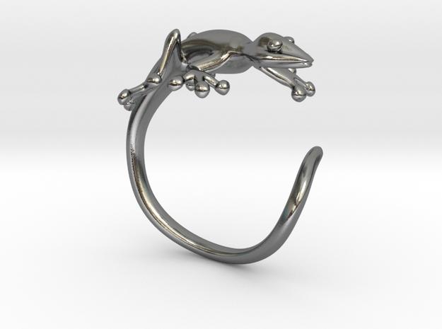 Gekko Wraparound Ring in Polished Silver