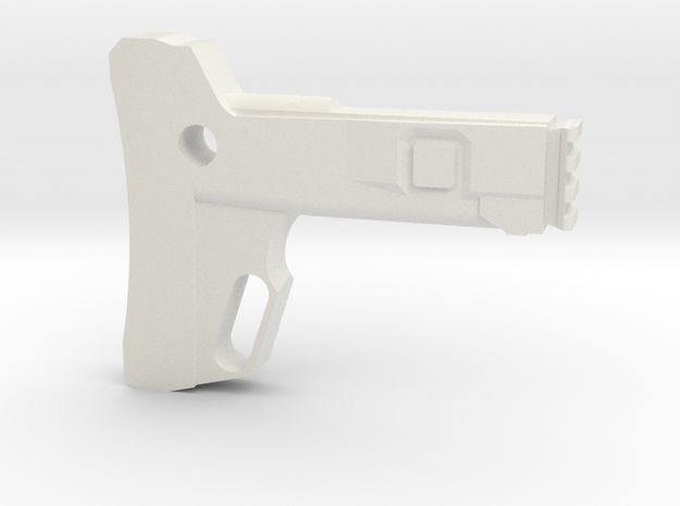 Combat Action Shoulder Stock (Short) in White Natural Versatile Plastic