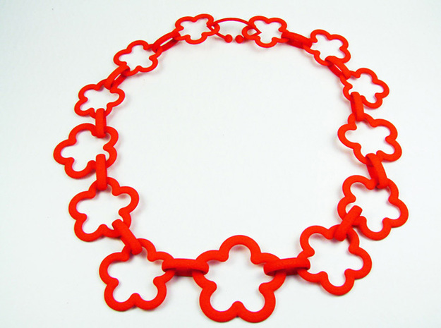 Colourful Flower Necklace Medium 3d printed