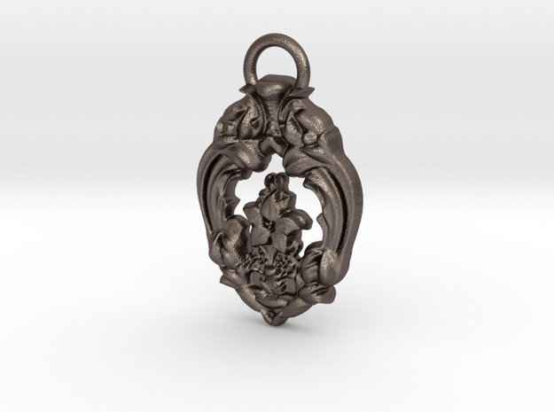 Brooks Pendant in Polished Bronzed Silver Steel