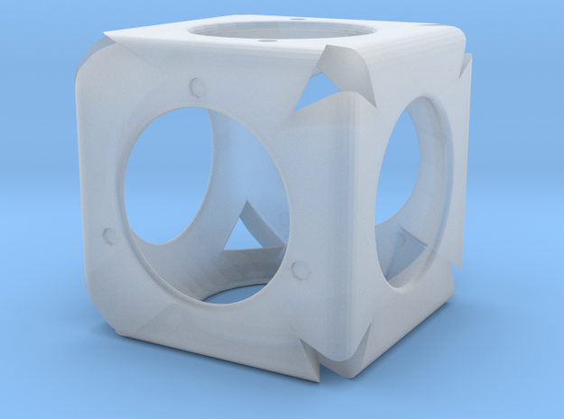 Dice44 in Smooth Fine Detail Plastic
