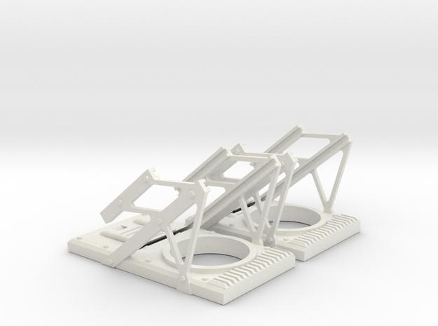 RC Jet set of HUD frames in White Natural Versatile Plastic